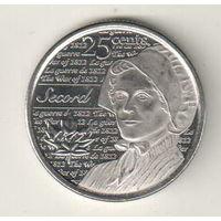 Канада 25 цент 2013 Война 1812 года - Лора Секорд