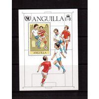Ангилья-1981,(Мих.Бл.39)  ** , Спорт,  футбол