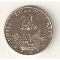 Джибути 20 франк 1996