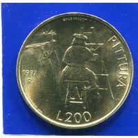 Сан Марино 200 лир 1997 UNC , Живопись