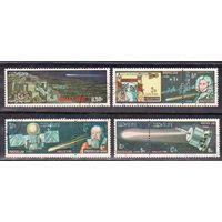 Лаос 1986 космос комета Галлея астрономия Полная серия