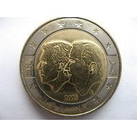 Бельгия 2 евро 2005 г. Бельгийско-Люксембургский экономический союз. (юбилейная) UNC!