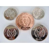 Западная Сахара. Набор из 5-ти монет 1-2-5-10-25 песет 2018 год