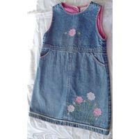 Р.116 На 5-6 лет джинсовый сарафан Girl2Girl, очень милый и нежный