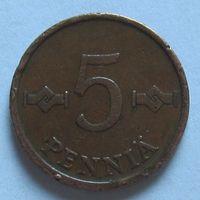 5 пенни 1963 Финляндия