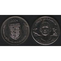 Official England Squad. Goalkeeper. Chris Kirkland -- 2004 England - The Official England Squad Medal Collection (f01)