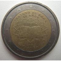 Испания 2 евро 2007 г. 50 лет подписания Римского договора (a)