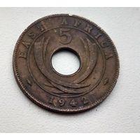 Британская Восточная Африка 5 центов, 1942 3-1-6