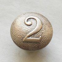 Вермахт погонная пуговица N 2 мельхиор