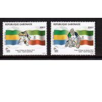 Габон-2012 (Мих.1708-1709) **  , Спорт, футбол