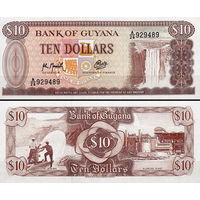 Гайана  10 долларов   UNC
