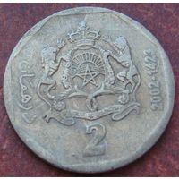 5492:  2 дирхама 2002 Марокко