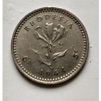 Родезия 6 пенсов, 1964 2-1-60