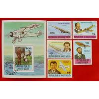 Верхняя Вольта. Авиация. ( Блок и 5 марок ) 1978 года.