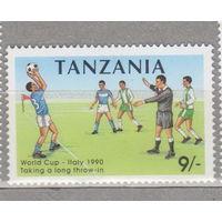 Спорт футбол Чемпионат мира по футболу 1990 года - Италия Танзания 1990 год лот 1062 ЧИСТАЯ