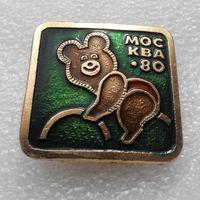 Значок. Москва 80. Олимпийский Мишка. Велоспорт #0321