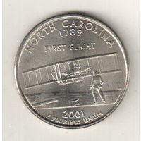 США квотер 2001 штат Северная Каролина