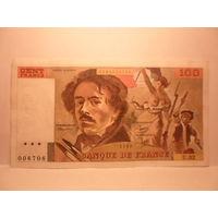 Франция  100  франков  1980 г.