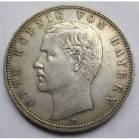 Германия, Бавария, 5 марок, 1904, серебро