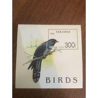 Танзания 1992. Птицы. Блок