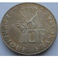 1k Франция 10 франков 1988 Гаррос В ХОЛДЕРЕ распродажа коллекции