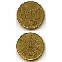 Италия 10 евроцентов 2002 г.
