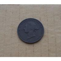 Остров Джерси, королева Виктория (1837-1901), 1/26 шиллинга (полпенни) 1871 года, медь