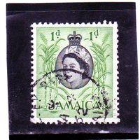 Ямайка. Ми-162.Пальмовые деревья. Серия: Королева Елизавета II и местные сцены (1956-58).
