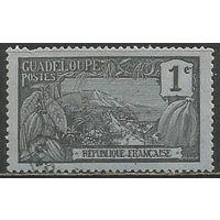 Гваделупа. Гроздь ванили. Пейзаж. 1905г. Mi#52.