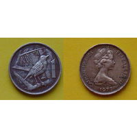 Каймановы острова 1 цент 1977г.
