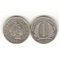 Восточно-Карибские Штаты. 1 цент 2004.
