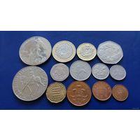 Великобритания сборка 5 фунтов,2 фунта,1 фунт,50,25,20,10,6,5,3,2,1 и 1\2 пенса (Состояние на фото)