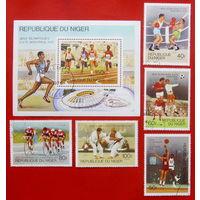 Нигер. Спорт. ( Блок и 5 марок ) 1976 года.