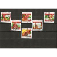 Гвинея 2010 Петухи полная серия 6 марок