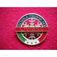 Значок Ливиньо. Итальянская горнолыжная школа.
