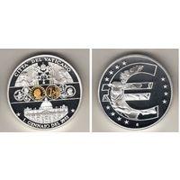 Ватикан монетовидный жетон 2003 PROOF диаметр 40мм Деньги Европы ЕВРО