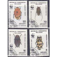 Мадагаскар 1988 фауна Насекомые, жуки. WWF/