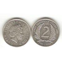 Восточно-Карибские Штаты. 2 цента 2004.