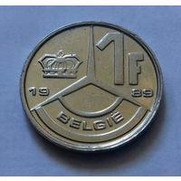 1 франк, Бельгия 1989 г., AU