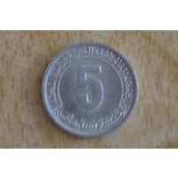 Алжир 5 сантимов 1980