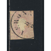 Австрия Имп Газетная 1858 Франц-Иосиф тип II Гашение Верона #17