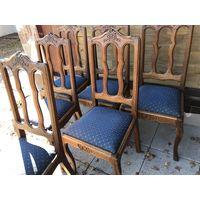 Набор стульев - 6 штук - 50-60 годы 20 в - дуб - в хорошем состоянии