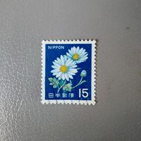 Марка Япония 1966 год Цветы
