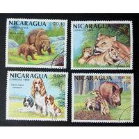 Никарагуа 1988 г. Животные. Фауна, полная серия из 4 марок #0178-Ф1