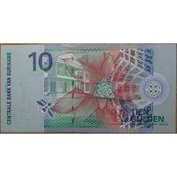 Суринам. 10 гульденов (образца 2000 года, UNC)