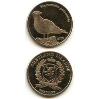 Шетландские острова 1 фунт 2016 г. (Аистоклювый зимородок, Halcyon Capensis, Птица)