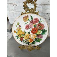 Декоративная Настенная тарелка Ursula Band Grande Finale 1990 Цветы