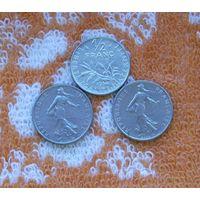 Франция 1/2 франка 80-е года