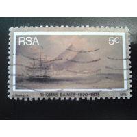 ЮАР 1975 корабль, живопись