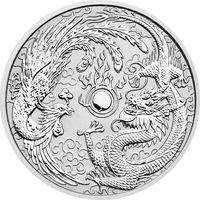 "Куплю монету Австралии ""Dragon and Phoenix"" (2017) серебро (1 oz)"